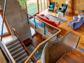The Houseboat Poole Poole Hamworthy Dorset Void Stairs Levels Open Plan Living Holiday Property